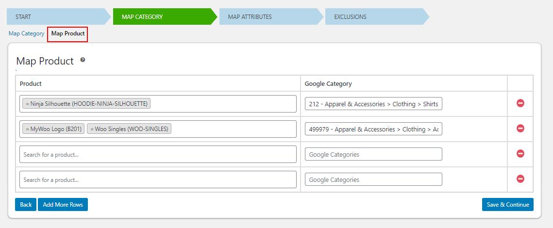 ELEX WooCommerce Google Shopping Plugin | Map Product