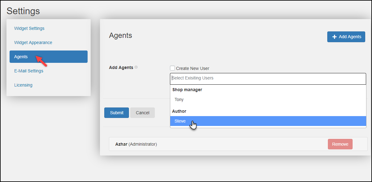 Set up WSChat - ELEX WordPress Live Chat Plugin | Creating an Agent Profile
