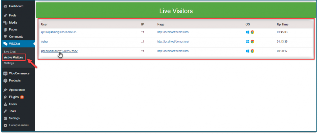 Live chat monitoring || live chat plugin