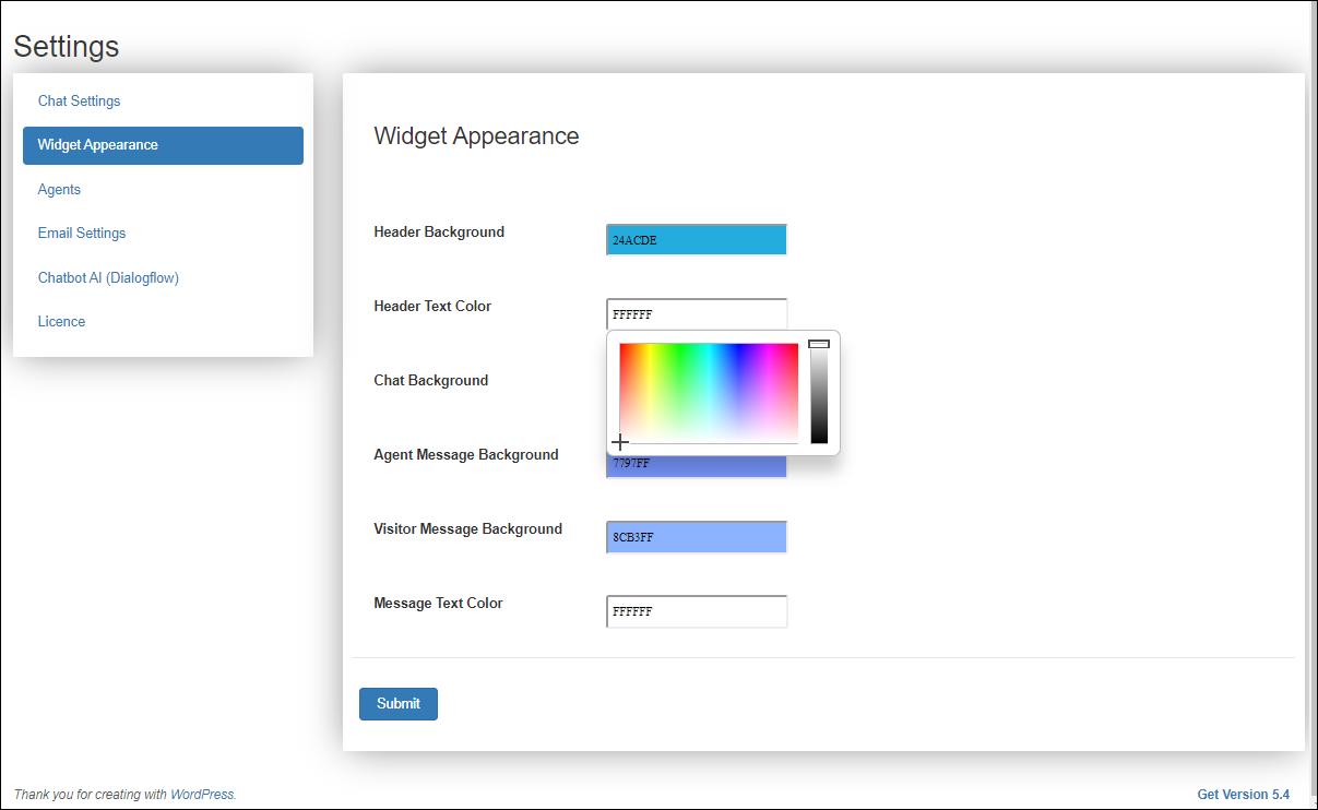 Set up WSChat - ELEX WordPress Live Chat Plugin | Widget Appearance settings