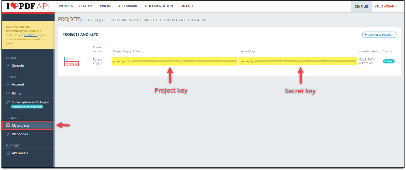 WooCommerce DHL Express Bulk Label Printing Add-On | Project and Secret Key