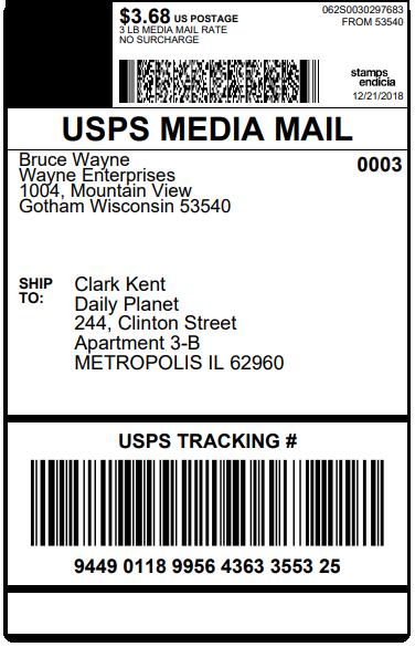 ELEX WooCommerce Stamps.com USPS Bulk Label Printing Add-On | Sample Stamps.com USPS Label