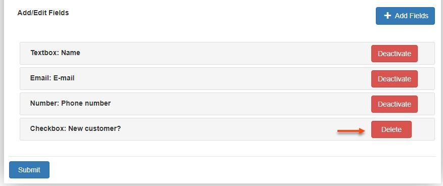 WSChat - ELEX WordPress Live Chat Plugin   delete the custom fields created