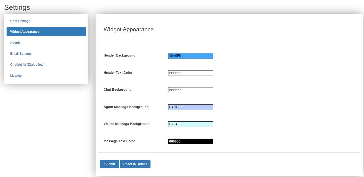 WSChat – ELEX WordPress Live Chat Plugin | widget colors