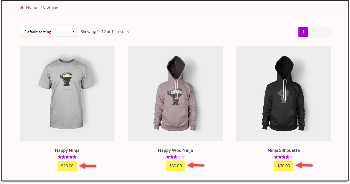 WooCommerce Category Discounts | Default Product Prices