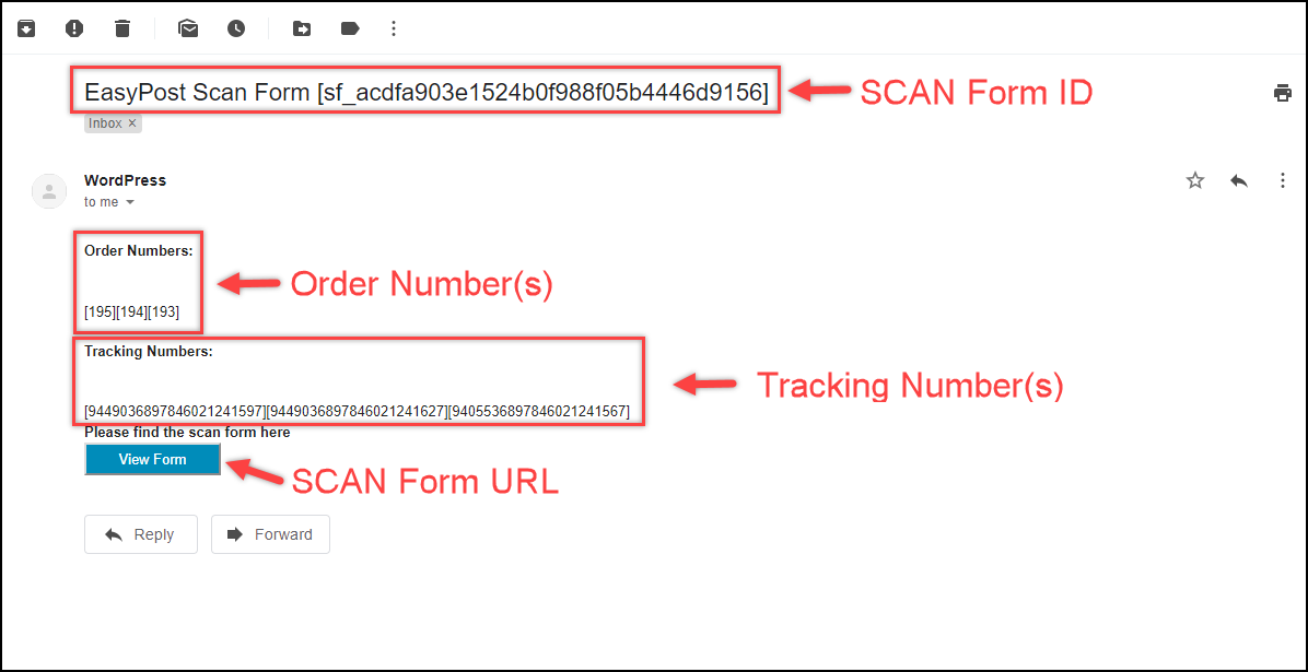 ELEX WooCommerce EasyPost Generate SCAN Form Add-On | Recipient Email IDs