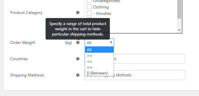 Hide WooCommerce Shipping Methods Plugin ELEX