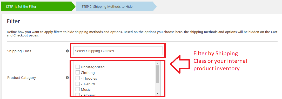 Hide Shipping Methods Plugin