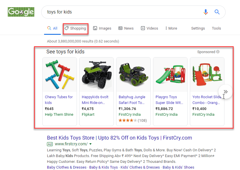 Google Shopping Results | Google Product Feed Plugin