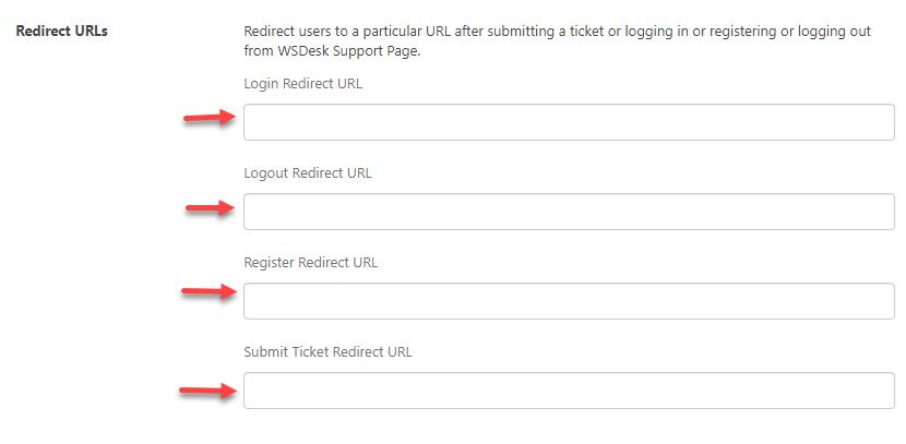 REdirection Rules | WordPress HelpDesk Plugin