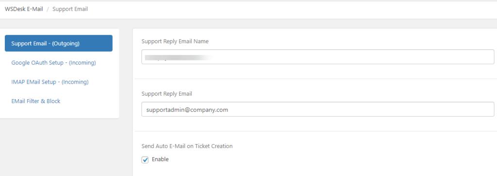 Email Piping | WSDesk| WordPress Ticket Plugin