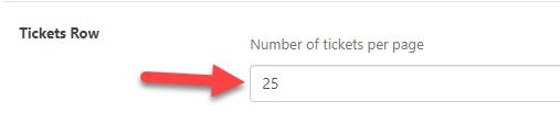 Ticket rows | WordPress Helpdesk Plugin