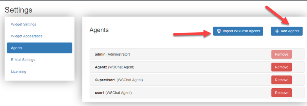 Unlimited Agents | WSChat | WordPress Chat Plugin