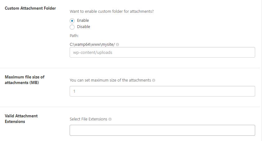 Attachment upload | WSDesk | WordPress ticket Plugin