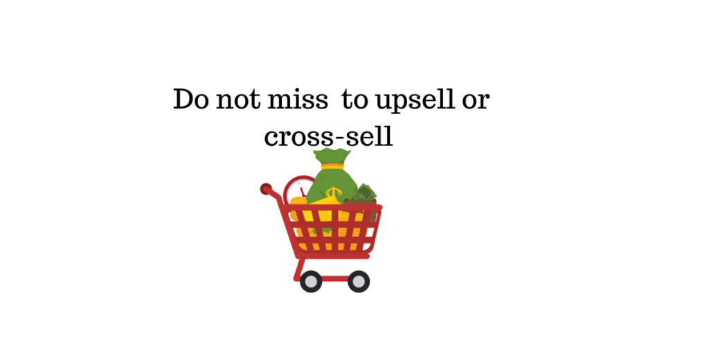 Upsell and CrossSell || live chat support