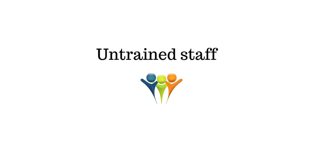untrained staff || live chat support