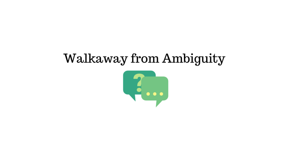 No to ambiguity || live chat support
