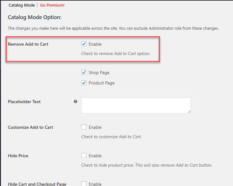 Add-to-cart-settings || Catalog mode || WooCommerce Catalog mode