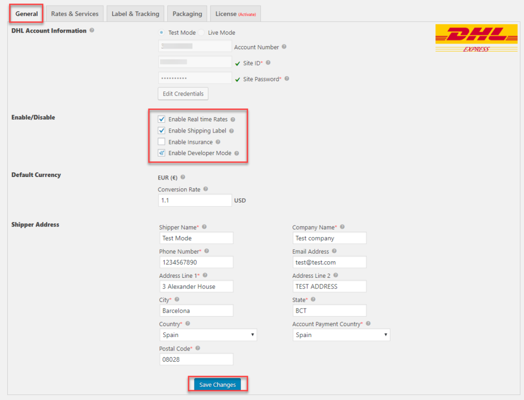 DHL _Plugin_general Settings || Shipping Prohibited and Counterfeit goods