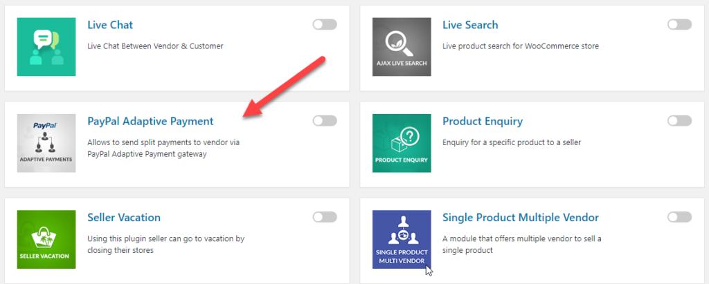 dokan PayPal Adaptive tool