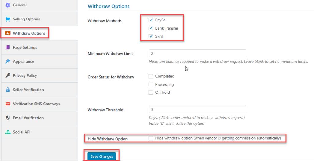 Dokan Withdrawal Setting || Multi-Vendor Marketplace
