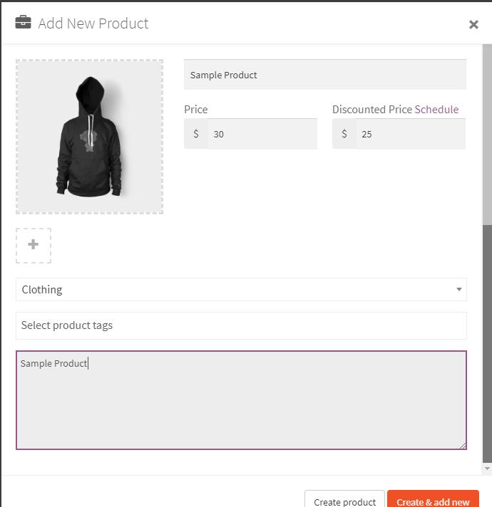 Sample Product || WooCommerce Multi-vendor