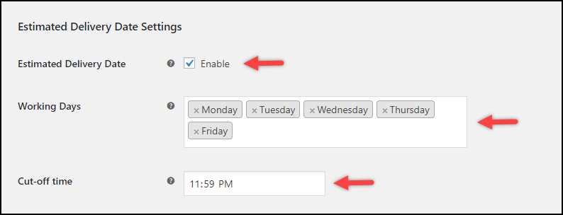 WooCommerce USPS Shipping Method Extension   Estimated Delivery Date settings