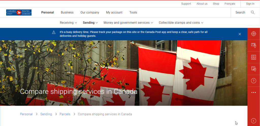 Canada Post || International Shipping Comapanies