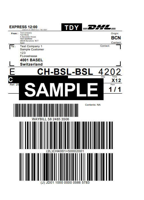 DHL_Shipment_label