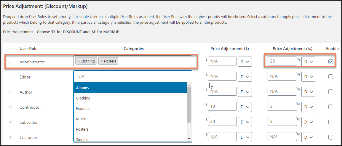 Free WooCommerce Role-Based Pricing Plugin | ELEX Role-Based Pricing Price Adjustment
