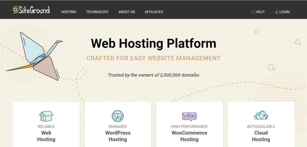 Siteground || WooCommerce Hosting providers