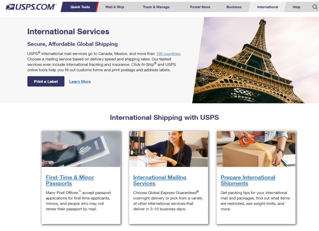 USPS || International Shipping Comapny