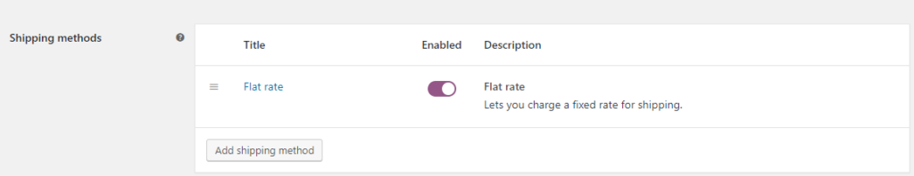 Flat-rate shipping || WooCommerce UPS Shipping