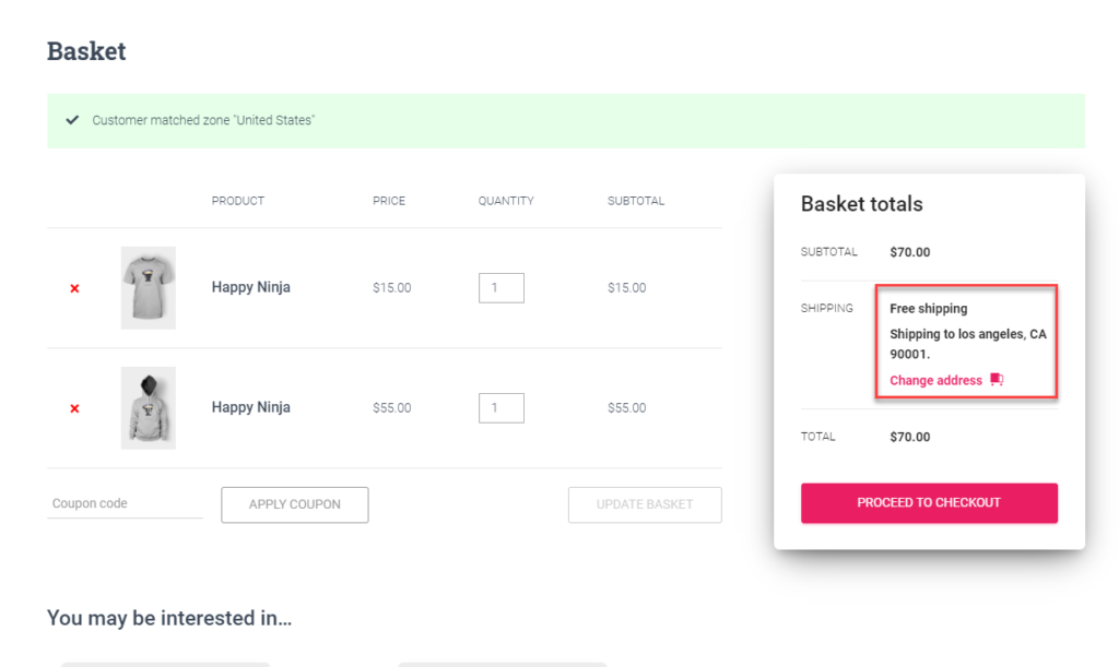 Free Shipping on Cart || WooCommerce UPS Shipping