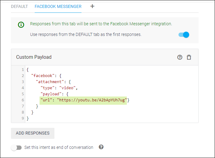 Detailed Guide on Setting up Dialogflow - Artificial Intelligence Based, NLP Optimized for the Google Assistant and Chatbot Development   WSChat Facebook Messenger Custom Payloads