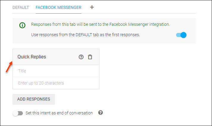 Detailed Guide on Setting up Dialogflow - Artificial Intelligence Based, NLP Optimized for the Google Assistant and Chatbot Development   WSChat Facebook Messenger Quick Replies