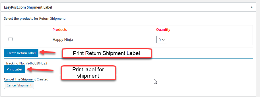 WooCommerce FedEX Return Label