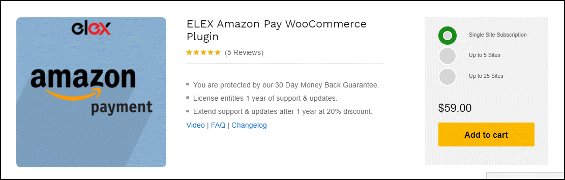 The Best Amazon Pay WooCommerce Plugin | ELEX Amazon Pay WooCommerce Plugin