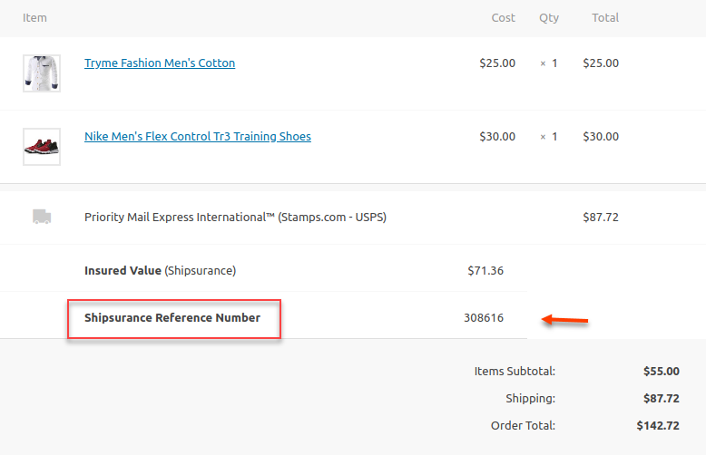 ELEX WooCommerce Shipsurance Add-On for Shipping Plugins | Shipsurance reference number