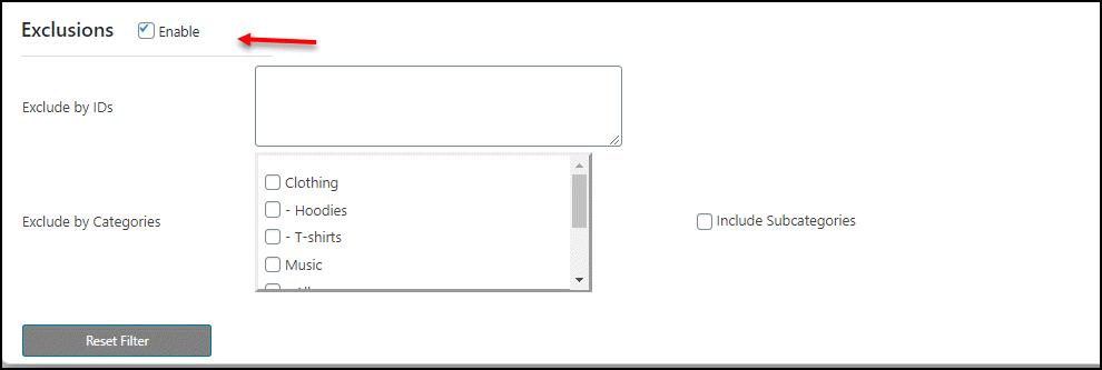 WooCommerce Bulk Edit Product Short Description - A Step by Step Guide | Bulk-Edit-Exclusions