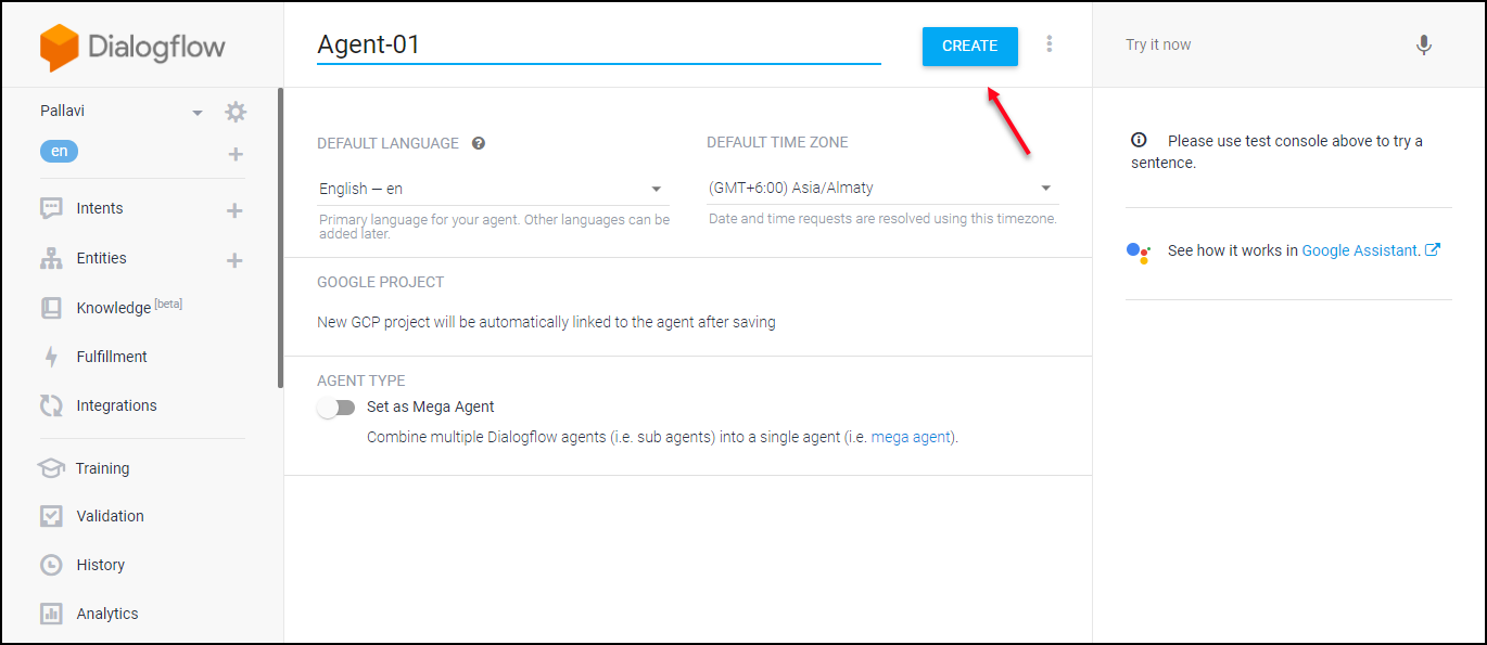 A Detailed Guide on Setting up Dialogflow | Creating-Agent
