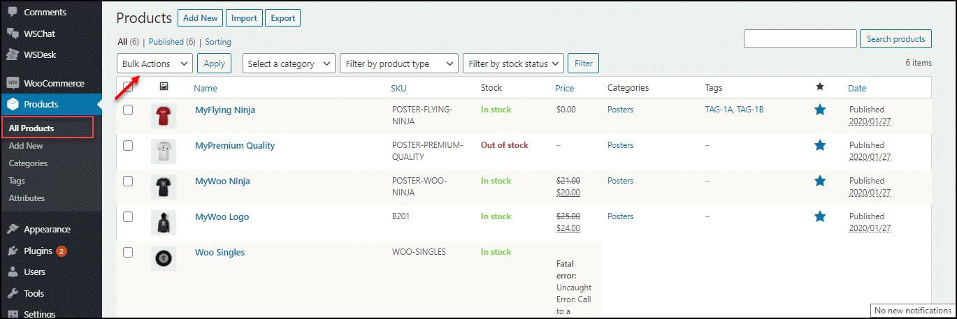 WooCommerce Bulk Edit Product Categories   WooCommece-Bulk-Actions