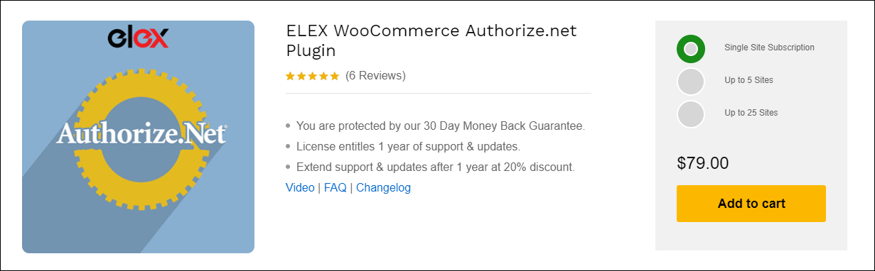 Best Payment Gateway Plugins for WooCommerce Subscription | ELEX WooCommerce Authorize.net Plugin
