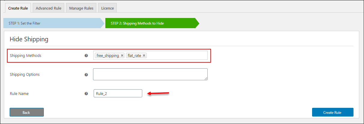 ELEX Hide WooCommerce Shipping Methods | Hide Shipping Rule2