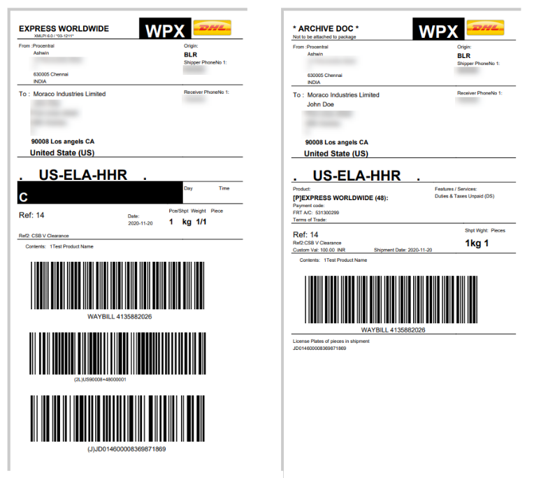 ELEX WooCommerce DHL India Add-On | Print Shipping Labels