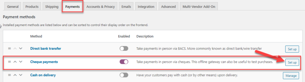 payment gateway in WooCommerce