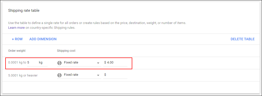 How Shipping Cost can be Set via Merchant Center? | Adding fixed rate