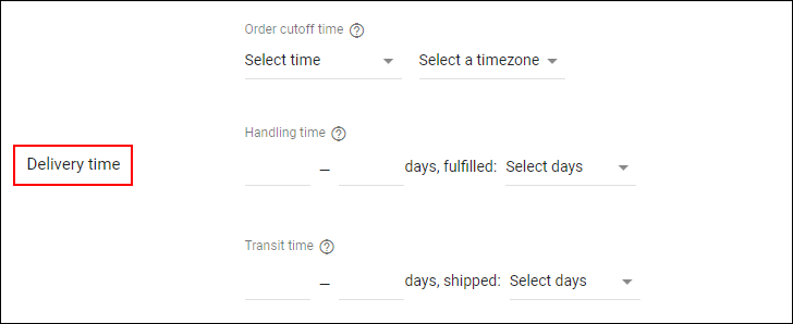 How Shipping Cost can be Set via Merchant Center? | Delivery Time