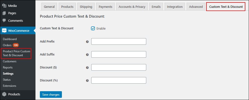 ELEX WooCommerce Product Price Custom Text & Discount Plugin | Product Price Custom Text and discount