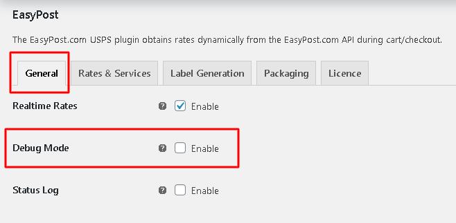 EasyPost Troubleshoot